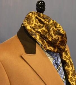 Montopoli Overcoat & silk scarf