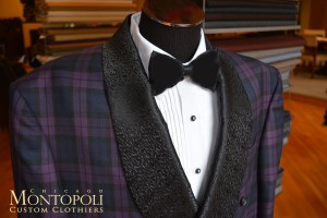 Montopoli Purple Plaid Custom Tux